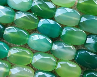 """Natural Agate Nugget Beads, Dyed Green,18x13x8mm - 15"""" Strand"""