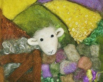 Sheep Greeting Cards 3 Pack - Herdwick Sheep Original Art Print Blank Card - Card for sheep lover