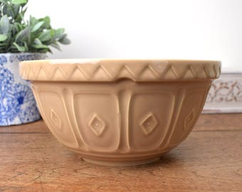 "Vintage mixing bowl, Mason Cash 20cm 8"" traditional ceramic ."