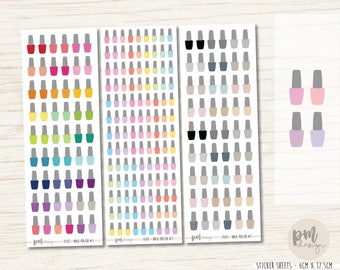 Nail Polish Stickers - Planner Stickers - FS01