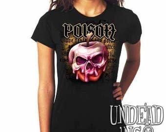 Snow White Villains Poison Apple  - Ladies T Shirt