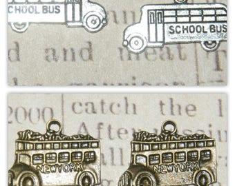 bronze 2 bus silver metal or metal charms