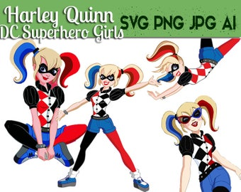 DC Superhero Girls Harley Quinn SVG ,Cricut file,dc superhero girl,dc superherogirl svg,DC Superhero Girls,Superhero Cricut,Superhero cut ou