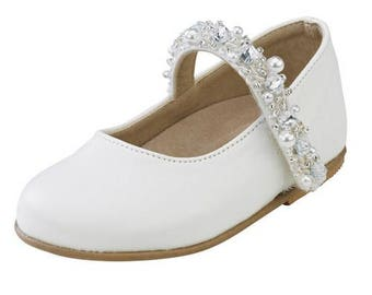 Leather shoes baby girl shoes white ecru handmade spring fall shoes baby wedding shoes baby baptism shoes size 4 5 6 7 8 9 US EU