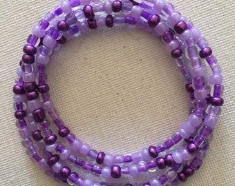 Violet Waist Beads