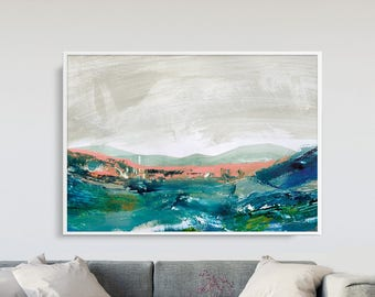 Printable Abstract Landscape, Large Wall Art, Large Printable wall art, Abstract Painting, instant Download Art, Cornwall A0 Print A0 poster