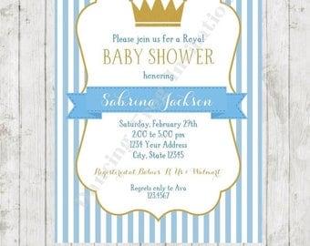 sale royal prince baby shower invitation printed royal baby shower invitation by dancing frog invitations