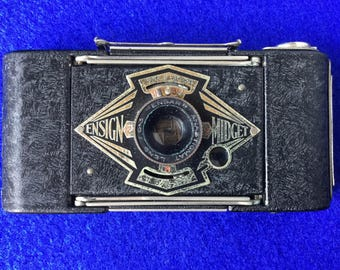 Ensign Midget Type 55 folding roll film camera, c1934
