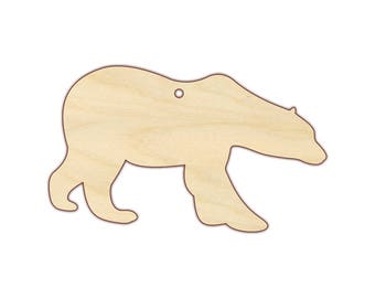 Polar Bear Ornament Blank - Christmas Ornament - 170204 - Unfinished wood