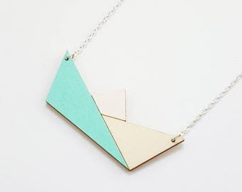 ALIZI.PLAYWOOD Jewellery - wooden / plywood neclace / pendant - origami paper boat