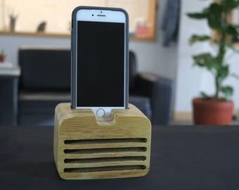 Suki wooden speaker, phone speaker, iPhone 6/6s speaker, iPhone loudspeakers, iPod touch speaker, father's day gift