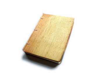 Pine Wooden Notebook, Wooden Wedding Guestbook, Wood Journal, Engraved Notebook, Wooden Sketchbook, Custom Journal, Travel Notebook- 4x6