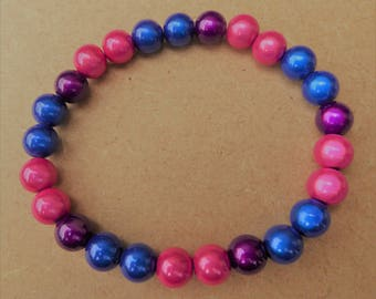 NEW Hand Crafted Miracle Bead Bisexual 'Glow' Bracelet