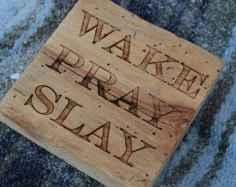 Reclaimed Wood Coffee Coasters (Set of 4)