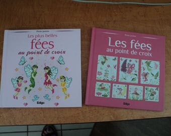 set embroidery cross stitch books: the fairies