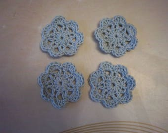 (Blue) crocheted flowers