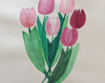 Tulip Watercolor Painting