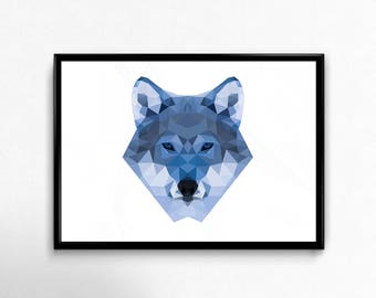 Lowpoly Wolf Poster