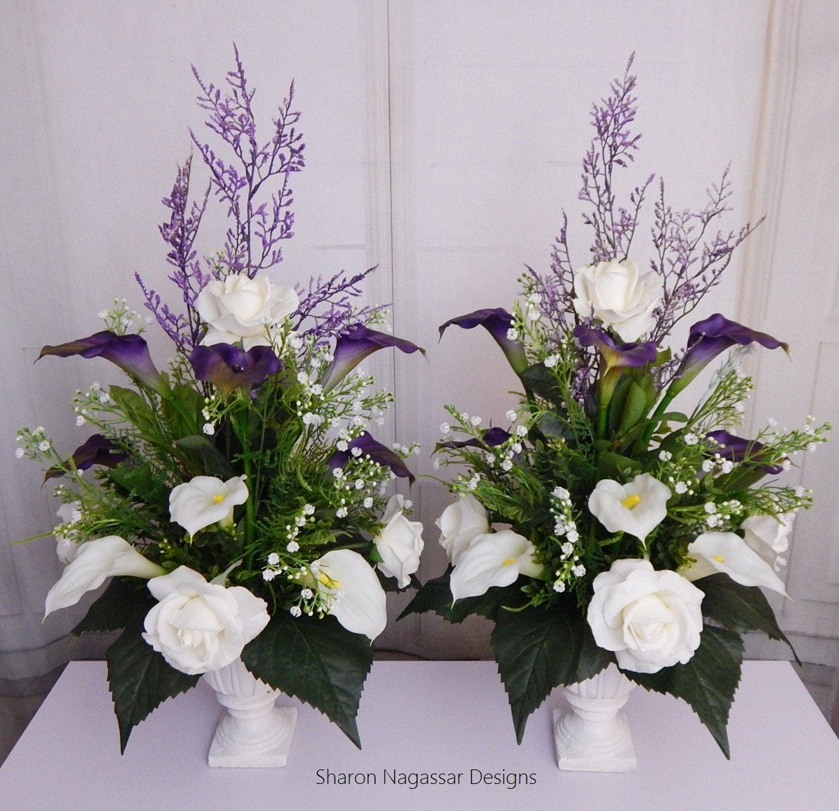 Fine purple and white flower centerpieces ensign wedding and perfect purple and white flower centerpieces festooning wedding mightylinksfo
