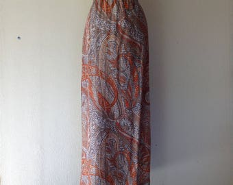 1960s Paisley maxi skirt with lurex
