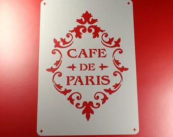 Template A4 Cafe de Paris ornament Frame-BS07