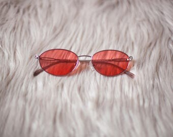 Grapefruit Red Vintage Sunglasses / Red Sunglasses