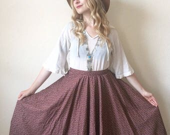 Vintage Ditsy Floral Circle Skirt