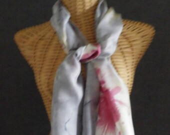 Grey Pearl and giroflee@evysoie silk scarf