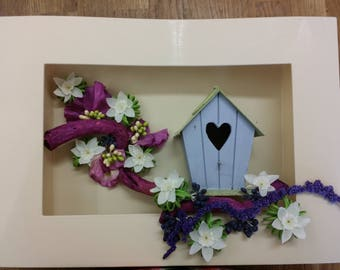 """frame 3D """"the little tree house"""" free shipping"""