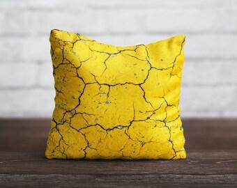 Yellow PillowCase Stone Throw Pillow Cover Decorative PillowCase Designer Toss Pillow Silk PillowCase Satin Pillow Cover Mom Gift Home Decor