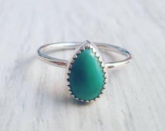 Custom turquoise stacking ring