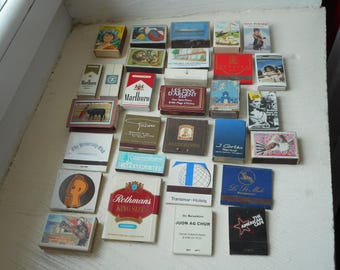 job lot of 30 vintage collectable matchbooks and matchboxes
