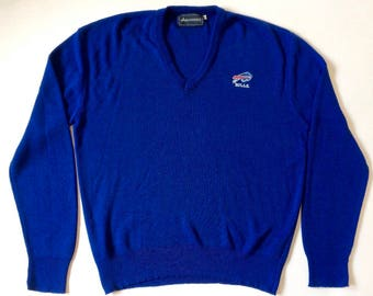 Vintage Buffalo Bills V-Neck Pullover Sweater Size XL