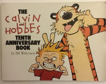 The Calvin And Hobbes Tenth Anniversary Book By Bill Watterson Vintage Comic Strip Book 1995