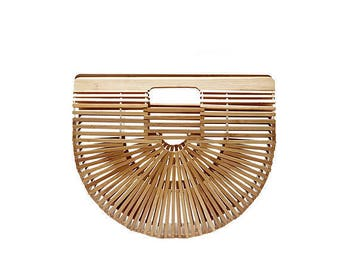 Bamboo Wicker Summer Hollow Ark Bag (Pre Order)