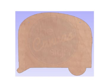 CAMPER - Unfinished Wood Cutout - DIY - Wreath Accent, Door Hanger, Ready to Paint & Personalize