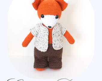 PATTERN: Amigurumi Fox, Crochet Fox, Fox Tutorial, Crochet Toy (English Only) + Free Pattern for the Outfit