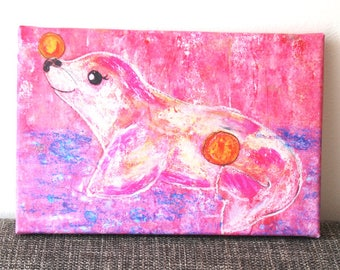 Seal Print on canvas