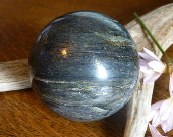 Apache Gold Sphere Gold Sphere Gemstone Sphere Rock Sphere Natural Rock Sphere Home Decor Gift Display Collector Award Present  S-416
