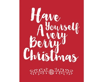 Very Berry Christmas Poster - Downloadable Print