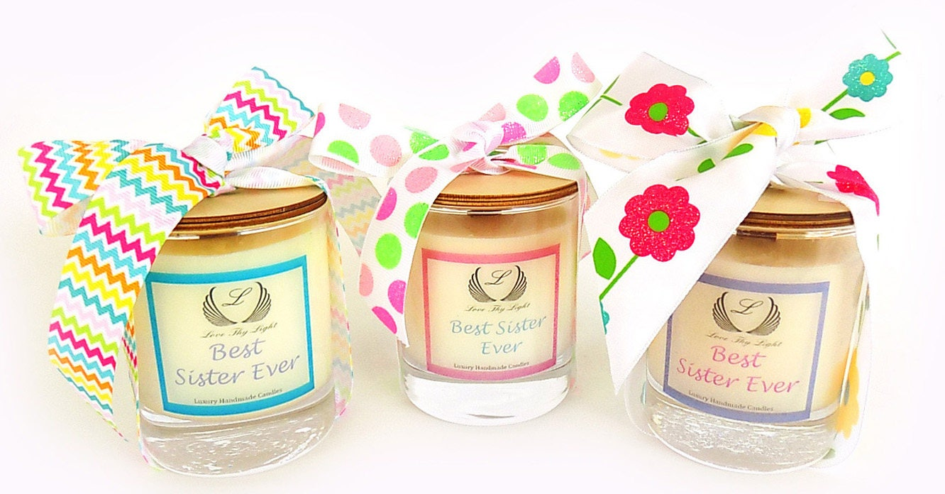 Bespoke Best Sister Soy Scented Candles Birthday Gift For Sister
