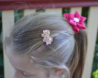 Set of 4 Mini Butterfly hair clips, hair accessories, girls accessories