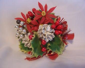 Vintage Christmas Poinsettia Corsage