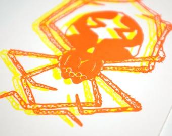 Spider Riso Print
