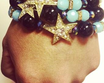 Star Beaded Bracelet Set