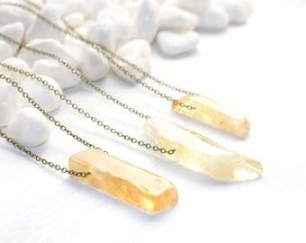 Solar Plexus Chakra Necklace, Citrine Necklace, Gemstone Necklace, Gemstone Jewelry, Chakra Jewelry, Chakra Healing Necklace