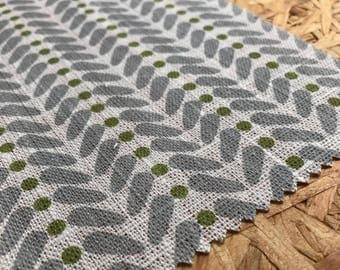 Green and Grey Fabric- Curtain Fabric- Scandinavian Fabric- Upholstery Fabric- Curtain Fabric- Modern Fabric- Linen- Fabric By The Metre- UK