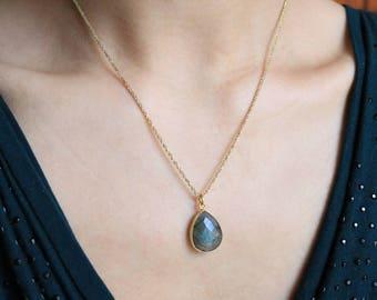 "Necklace ""Caprice"" Labradorite gemstone"