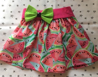 Summer Baby Toddler Girl Watermelon Elastic Waist Twirl Skirt