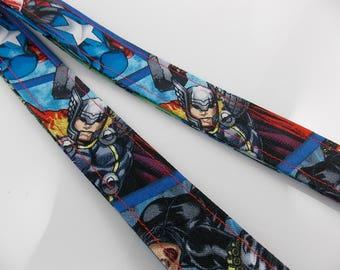 Thor Lanyard Avengers Lanyard Comic Con Lanyard Captain America Lanyard Thor Key Holder Thor ID Badge Holder Teacher Lanyard Nurse Lanyard